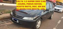 Celta Super 1.0 8v 4P Com Ar, Couro, Pneus novos.