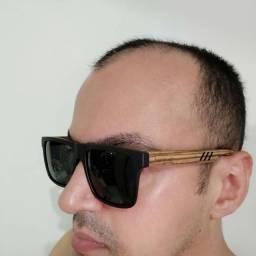Óculos em madeira Polarizado com Proteção UV 400