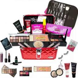 Maleta + Kit Maquiagem Completa Luisance Rubys + Brinde Bz15<br><br>