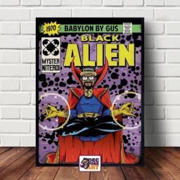 Quadros Decorativos Black Alien