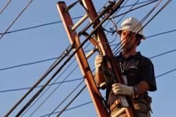 Eletricista Profissional Instalação elétrica Poste Padrão Light De Aço Galvanizado