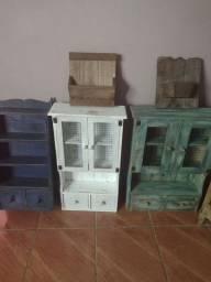 Organizador de cozinha de madeira maciça rústico