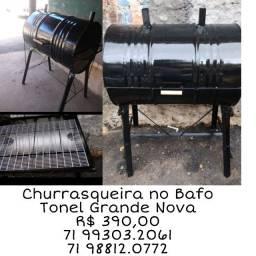 Churrasqueira Tambor a Bafo Tonel Grande 200 litros