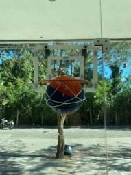 Vendo cesto de basquete e bola infantil