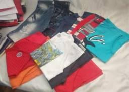 Lote com 45 de roupa de menino usadas