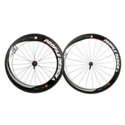 Par rodas de carbono profile design