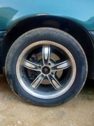 Título do anúncio: Jogo de rodas 15 furação 4/100 sem pneus valor 1000 reais
