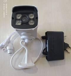 Camera vigilância wi-fi externa conexão com celular.