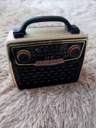 Rádio Vintage  Usb, Bluetooth e Rádio Novo