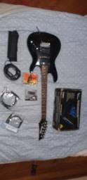 Guitarra Ibanez Customizada + pedaleira + acessórios