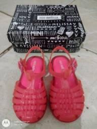 Sandália Mini Melissa tamanho 23 rosa