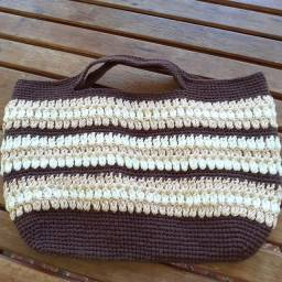Bolsa de mão de crochê