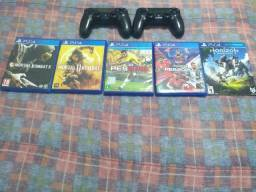 Kit c/ 5 jogos PS4 + 2 controles