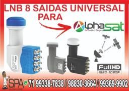 Lnb 8 Saidas Universal Banda Ku 4k Hd Lnbf Para Alphasat