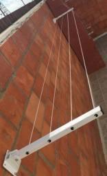 Aquathi - Varal Dobrável de Parede Ferro Reforçado Até 30kg
