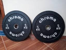 Anilha Olímpica Hi temp 5kg Chroma fitness