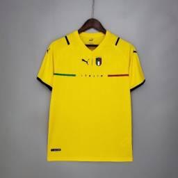 Título do anúncio: Camisa Itália Goleiro Amarela Torcedor Masculina 2021 / 2022