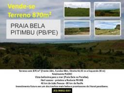 Título do anúncio: Vende-se um terreno na Praia Bela com 870 m² - 1 500 metros da Praia