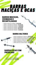 Barras Academia para Treino Musculação- Diversos Modelos e Preços