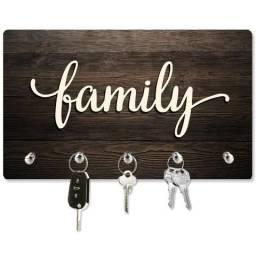 Porta Chaves Family - Ideal para presentear