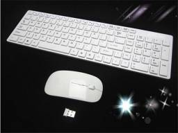 Teclado + Mouse Multimídia (Sem fio, Wireless)