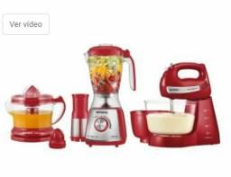 Kit Gourmet Red Premium Mondial - com Liquidificador + Batedeira + Espremedor 110V