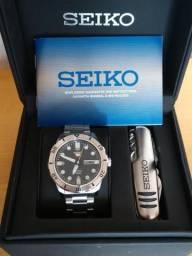 Seiko Sports Grande em Aço Inox - Aceito Troca em Smartphone Motorola ou Relógio