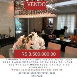(V-E-ND-O) Condomínio Ephigenio Salles, Apartamento| 05 suítes toda mobiliada