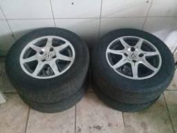 Vendo rodas 13 pneus bons