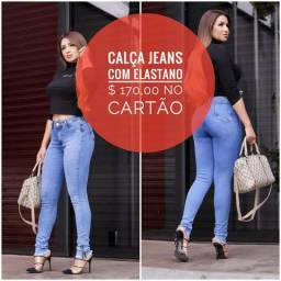 Calça jeans de luxo para a mulher sofisticada e elegante