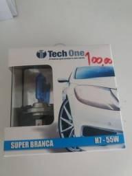 Lâmpada super branca h7 tech one nova na embalagem garantia instalado