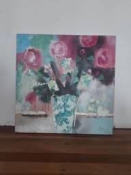 Lindíssima tela a óleo pintada a mão.