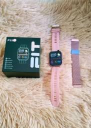 Smartwatch F22   Duas pulseiras!