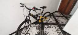 Bicicleta usada Track Bikes TB 100 Dupla Suspensão 18 V - Aro 26 - Preto e Amarelo