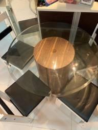 Mesa vidro redonda
