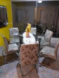 Título do anúncio: mesa com 6 cadeiras super novaaaa