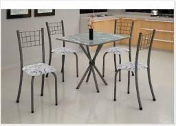 Ofertas pós Carnaval - Mesa granito - 4 cadeiras