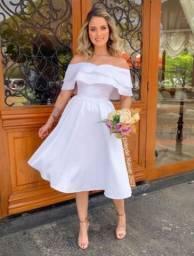 Vestido Noiva Curto Civil Cartório Casamento Pre Wedding