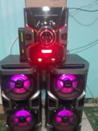Som Sony GPX7 3000 porradão 3 CDS,2 ENTRADA USB,Am,FM