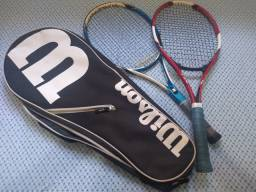 Duas raquetes de tênis mais case