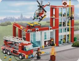Título do anúncio: Lego original completo quartel bombeiros