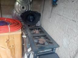 Fogão industrial, panelas, gerador e mais