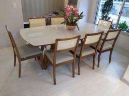 Título do anúncio: Mesa de 8 lugares nova completa pronta entrega de madeira e acabamento laka luxo