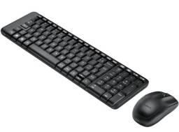 Kit Teclado e Mouse Sem Fio Compacto Logitech Wireless Novo Lacrado