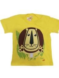 Título do anúncio: Camisa infantil com manga diversas cores