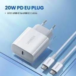 Título do anúncio: Carregador rápido Ugreen 20W com cabo USB C