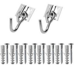 Ganchos metal galvanizado para rede