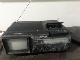 Rádio cassete, TV, am , fm e sw