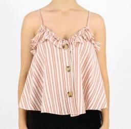 Blusa Zara de linho