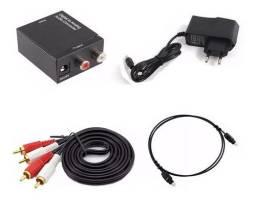Título do anúncio: Conversor de audio digital/analogico + cabos